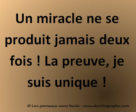 Un miracle